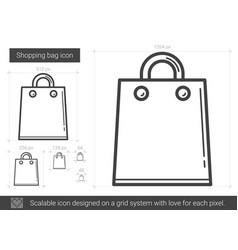 Shopping bag line icon vector