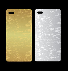 metal phone case template cover phone or case vector image