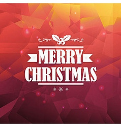 Christmas triangle background vector