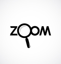 Zoom icon with letters magnifying glass are vector