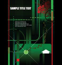 Grunge high tech background vector