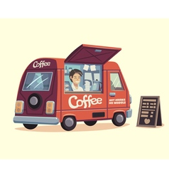 Coffee van vector