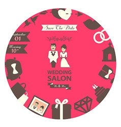 Wedding salon emblem vector