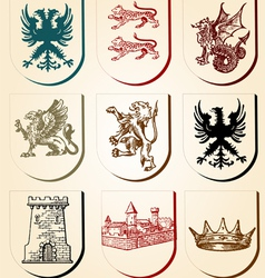 Heraldry design elements vector