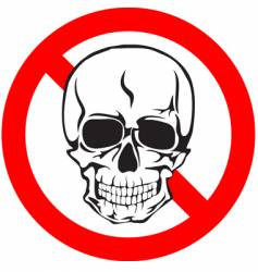 skull sign vector image