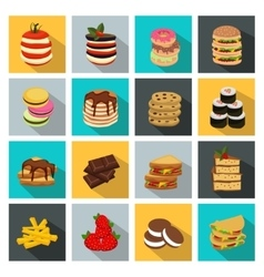 Meal icon set vector