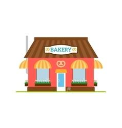 Bakery flat style icon isolated on white vector image