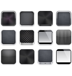 Black app icons vector image vector image