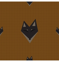 Brown fox chocolate brown background vector