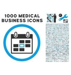 Calendar Day Icon with 1000 Medical Business vector image