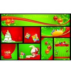 Christmas background template vector