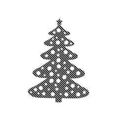 Christmas tree sign vector image vector image
