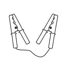 Current cable clamps icon vector