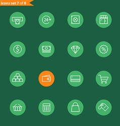 Different line style icons collection Mobile or vector image vector image