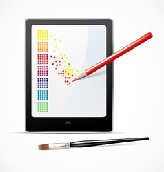 digital art concept vector image vector image