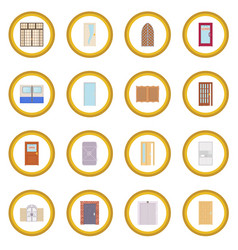 door icon circle vector image