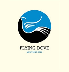 Dove flying logo art design vector
