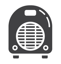 electric fan heater solid icon household vector image