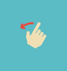 Flat icon backward element of vector