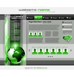 hitech business website vector image vector image