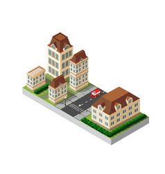 Isometric retro 3d vector