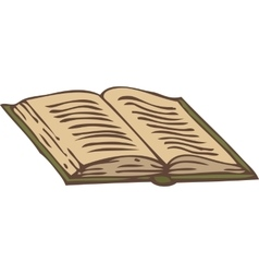 Open book with a green cover vector