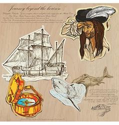 Pirates - journey beyond the horizon vector