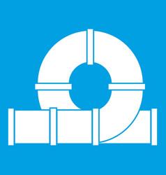 Playground slider water tube icon white vector