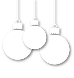 Set Christmas paper balls with copy space for your vector image vector image