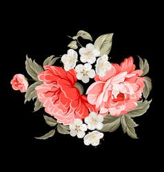 Spring flowers botanical card vector