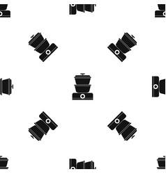 Steamer pattern seamless black vector