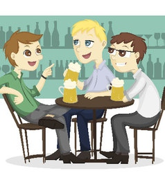 The after work beer time vector image vector image