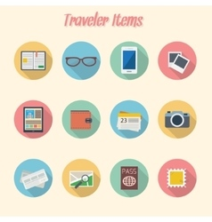 Travelers cons vector image