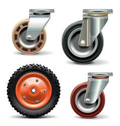 Trolley Wheel vector image