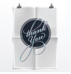 Vintage thank you poster vector