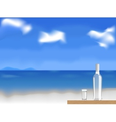 vodka on the beach vector image