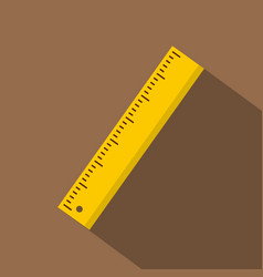 Yellow ruler icon flat style vector