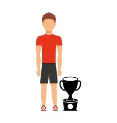Avatar person athlete icon vector