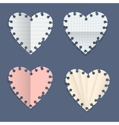 Hearts paper note vector