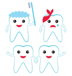 Teeth characters vector