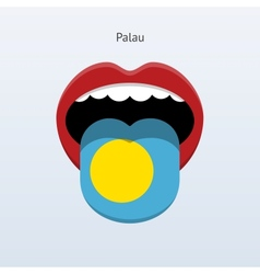Palau language abstract human tongue vector