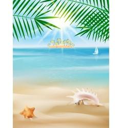 Summer tropical poster design vector image