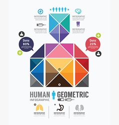 Infographic human geometric Design vector image
