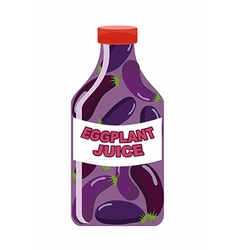 Eggplant juice juice from fresh vegetables vector