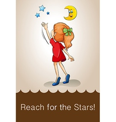 Idiom reach for the stars vector