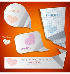 paper speech bubble valentines day vector image