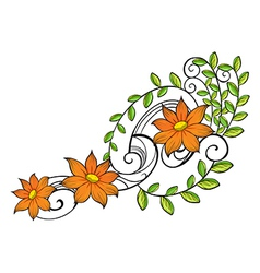 A border made of vine flowers vector image vector image