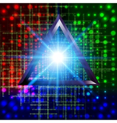 Abstract 3d technology triangle tunnel background vector