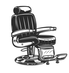 Barber chair on white background vector
