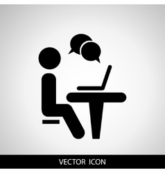Businessman working on computer Web icons for vector image